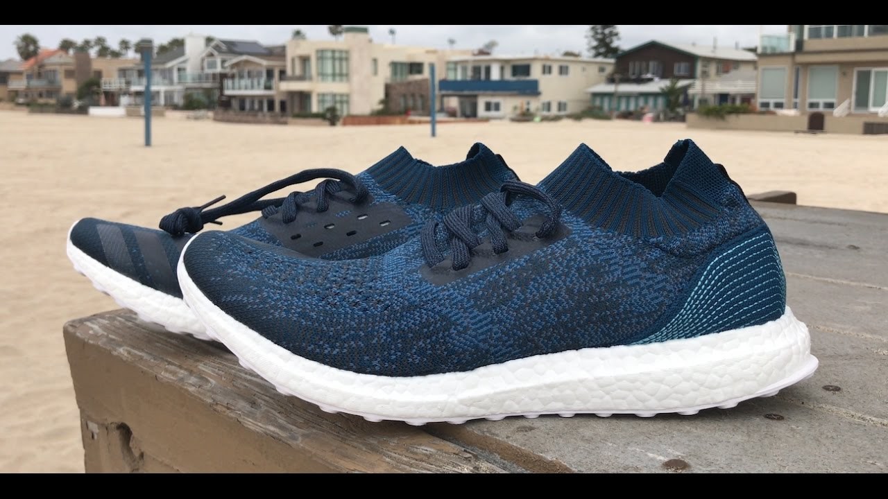 e21aa31631bc4 Parley x adidas Ultra Boost Uncaged Beach Unboxing - YouTube