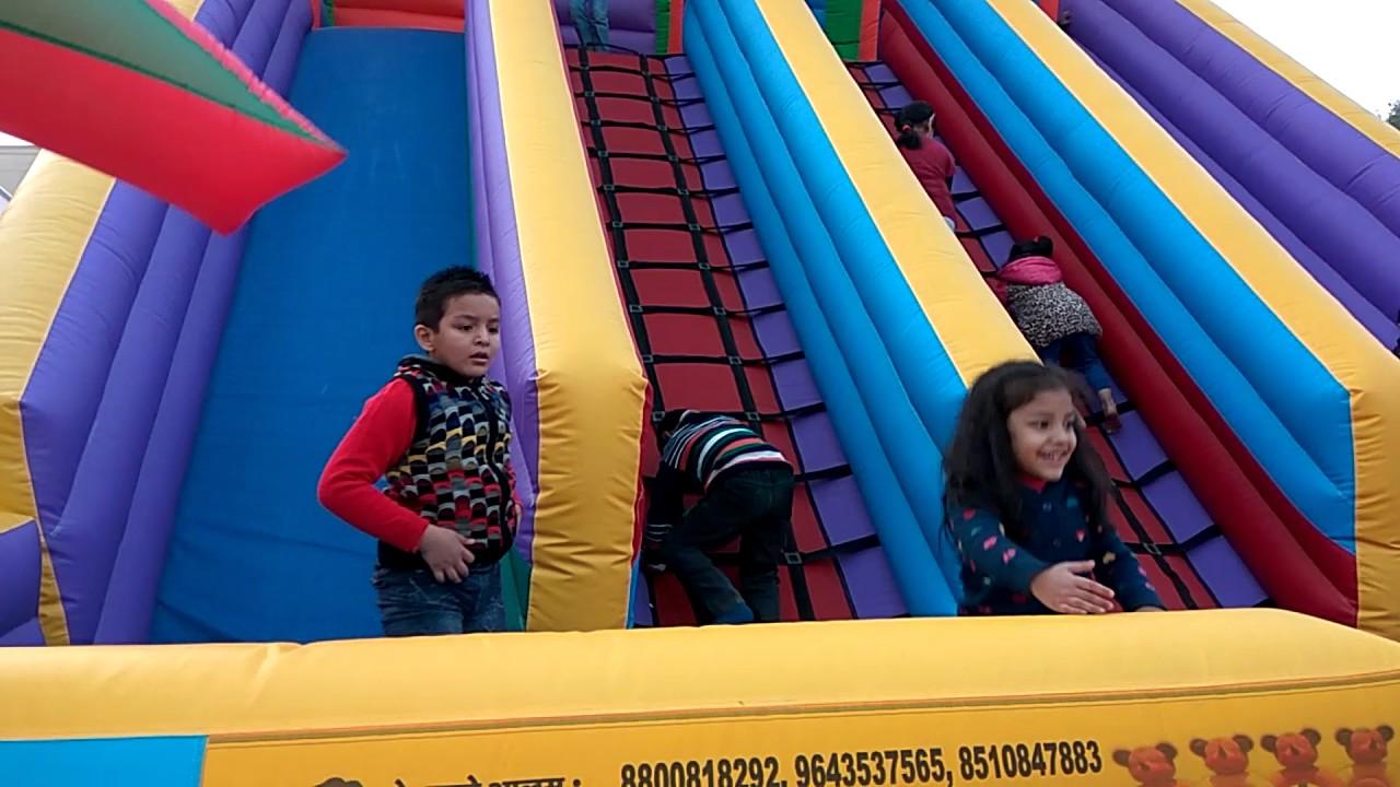 homemade backyard amusement water park for kids christmas party