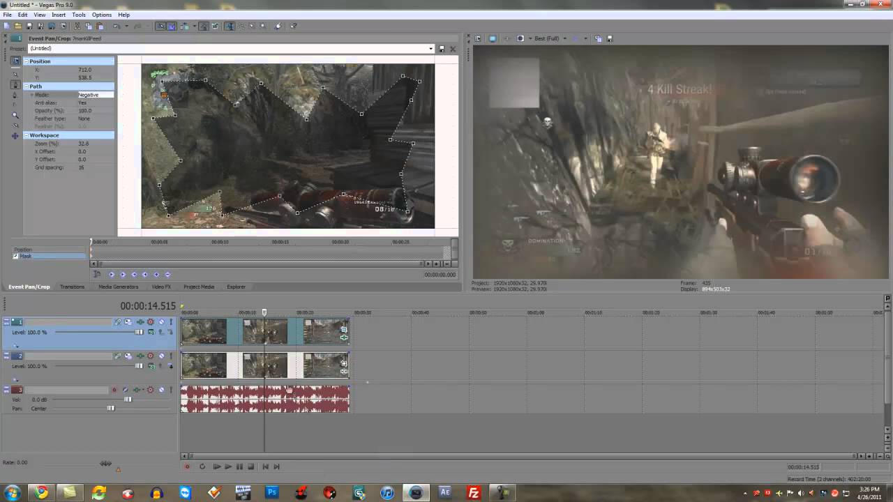 how to add motion blur vegas pro