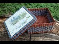 #4 Мастер-класс от А до Я Коробочка из газет DIY Newspaper Box Weaving Tutorial ENGLISH SUBTITLES