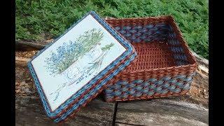 【DIY#4】📰Newspaper Weaving Tutorial・🌾Provence Style Basket・Плетение из Газет・Мастер Класс с Ниной