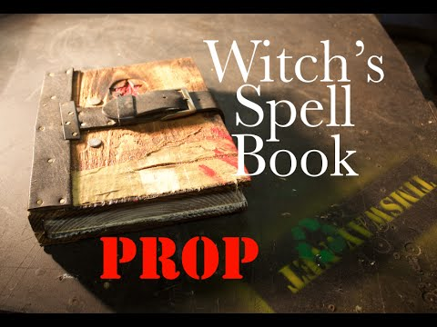 Make a Prop Witch's Spell Book from Scrap - Halloween is coming!