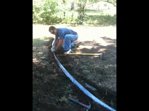 how to install metal landscape edging denver landscaping youtube