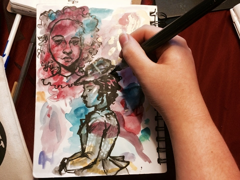 The Ups and Downs of A Teenage Artist - Real-time Ink Drawing