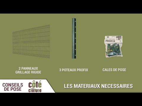 Côté Clôture - Poser Du Grillage Rigide Avec Des Poteaux à Encoches Profix