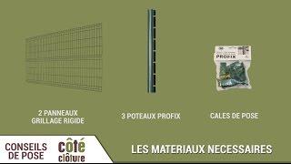 Côté Clôture - Poser du grillage rigide avec des poteaux à encoches Profix(, 2017-04-11T08:55:02.000Z)