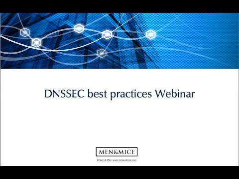 DNSSEC best practices webinar