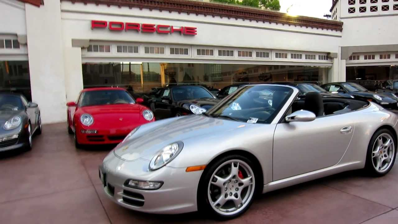 997 Turbo S >> 2007 Porsche 911 Carrera S Cabriolet 997 Arctic Silver Black 6spd FOR SALE in Beverly Hills ...