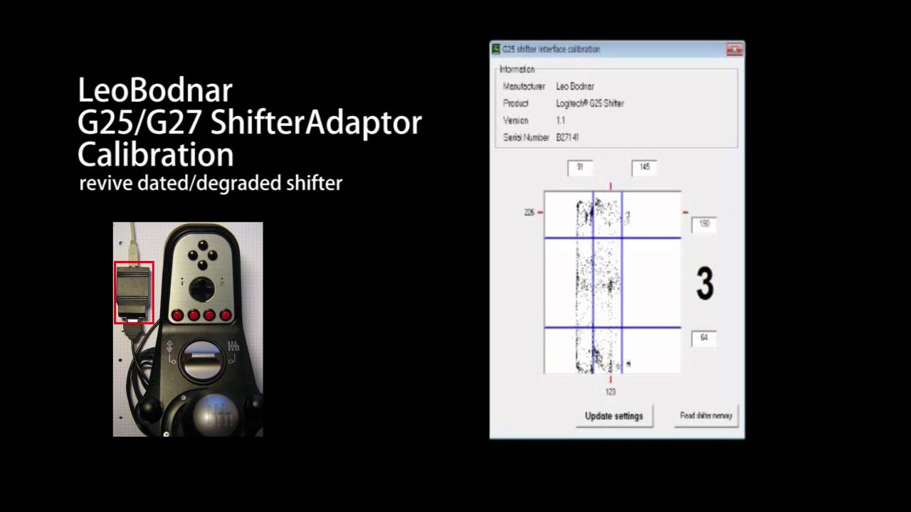 DIY G25 shifter interface with H-pattern, sequential and
