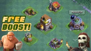 HOW TO BOOST YOUR VILLAGE FOR FREE! | USES OF THE CLOCK TOWER IN CLASH OF CLANS BUILDER BASE!!