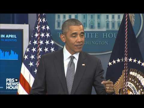 President Obama speaks on the U.S. economy