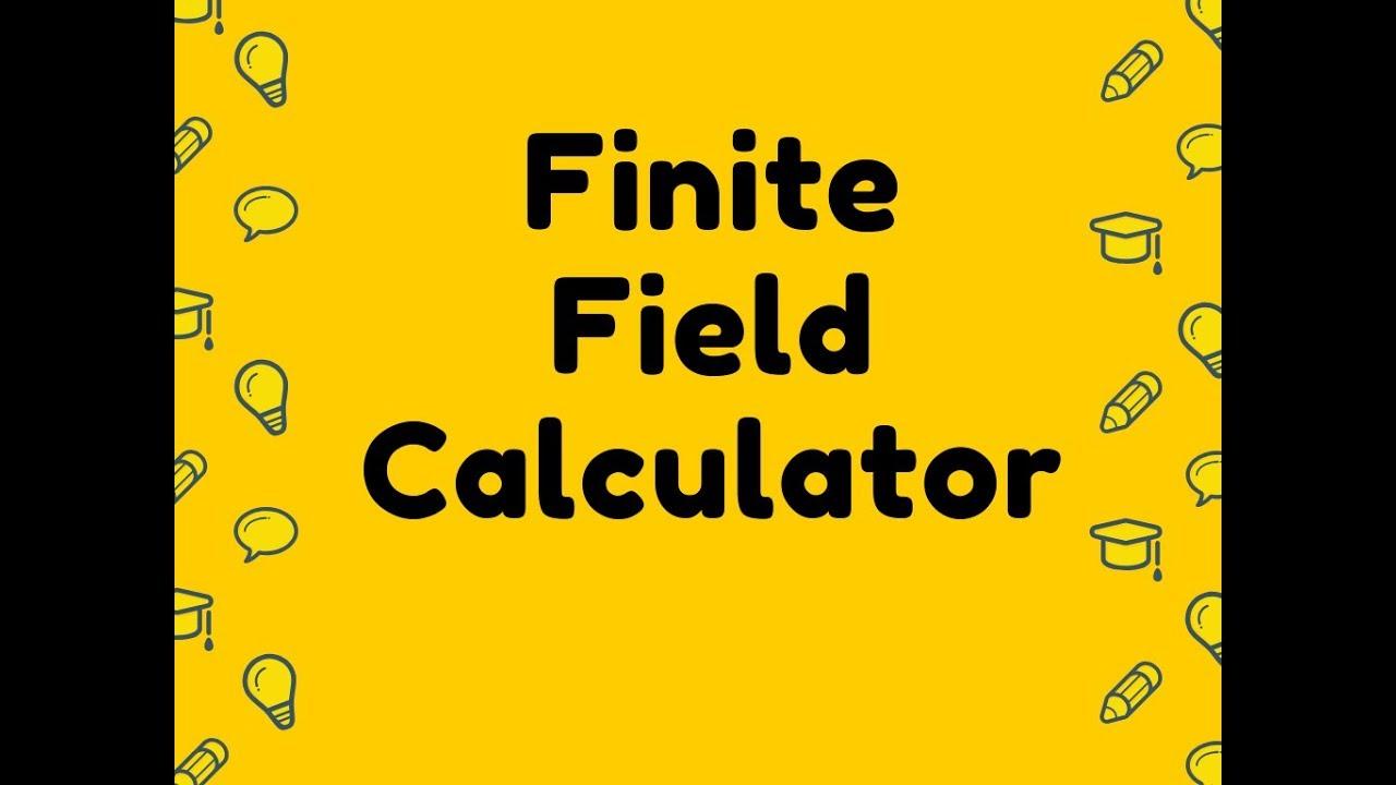 Finite Field Calculator Youtube