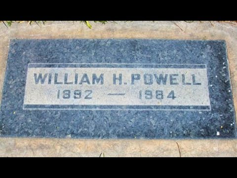 Remembering Actor William Powell At His Grave Site In Cathedral City, California