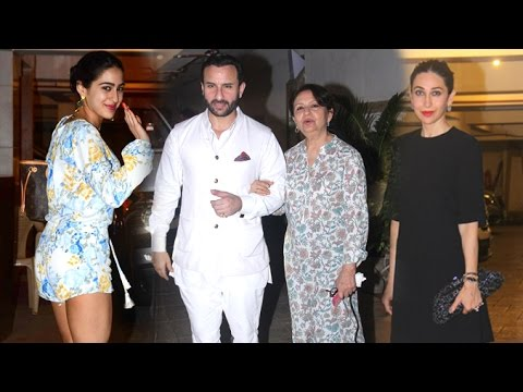 Saif Ali Khan's Post Birthday Party 2016 With Family