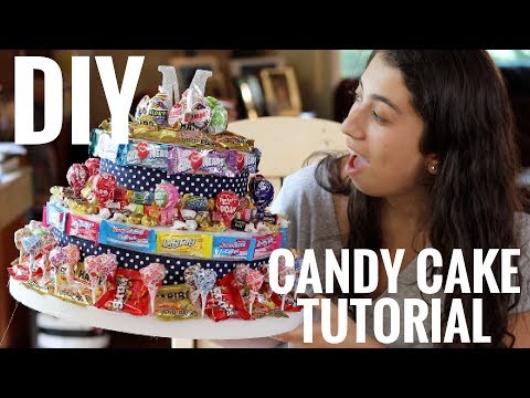 HOW TO MAKE A NO-BAKE CANDY CAKE!!! I Easiest cake you'll ever make! I Zoe Alex