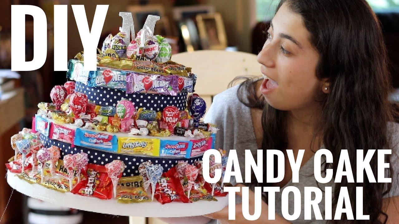 How To Make A No Bake Candy Cake I Easiest You Ll Ever Zoe Alex Youtube