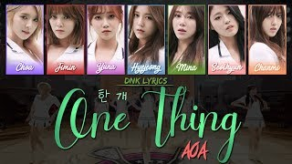 AOA (에이오에이) - 한 개 (One Thing) (LYRICS) [Han|Rom|Eng Colour-C…