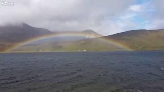 Summer Rainbow Over Loch Tay Highland Perthshire Scotland