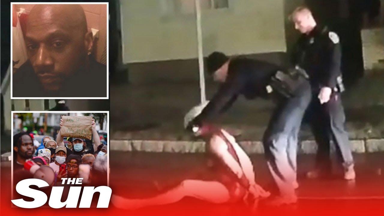 Cops put hood on Daniel Prude & press face down for 2mins