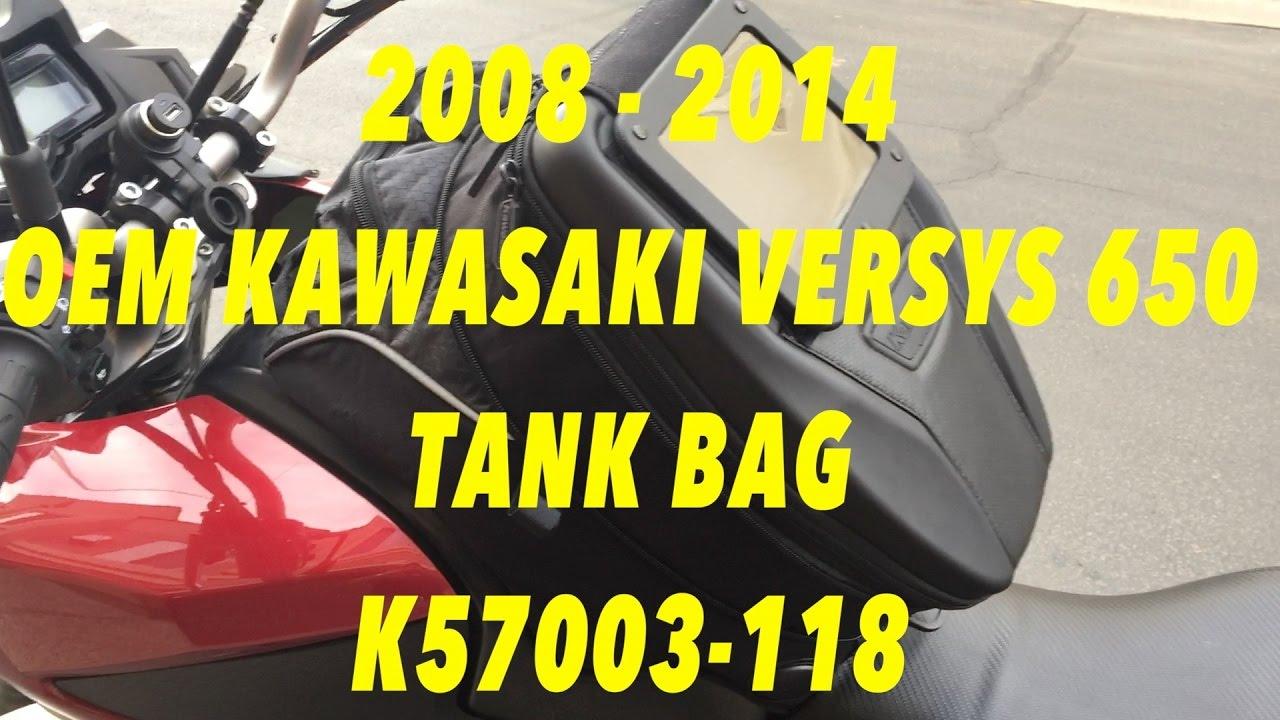 Kawasaki Ninja 650 Expandable Magnetic Tank Bag Black K57003-111