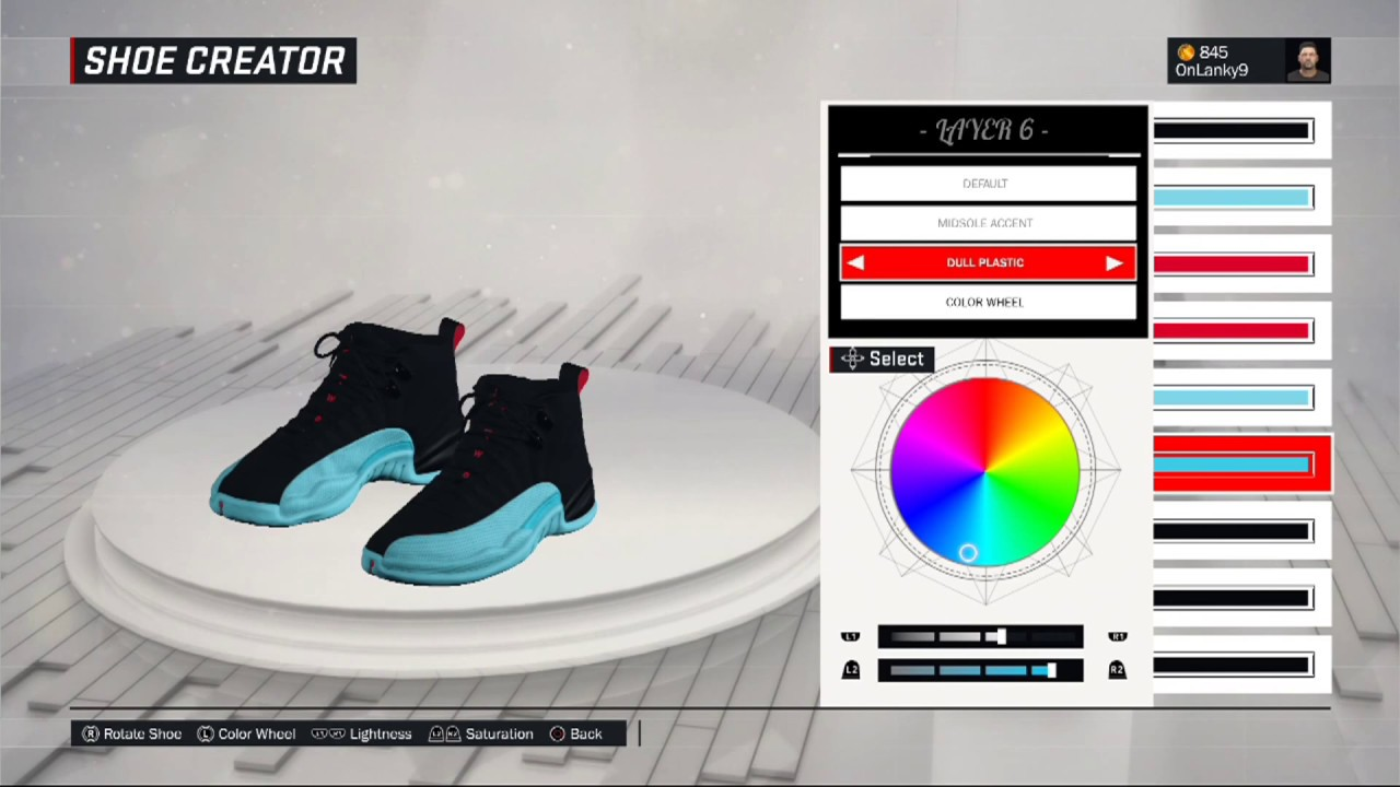 NBA 2K17 Shoe Creator | HOW TO CREATE AIR JORDAN GAMMA BLUE 12!