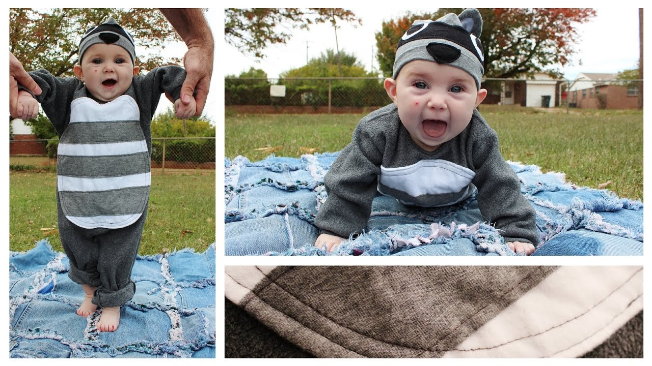 raccoon costume | baby's first halloween | diy inspiration - whitney