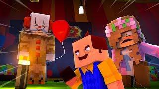 IT THE CLOWN KIDNAPS THE NEIGHBOUR! Minecraft IT | LittleKelly
