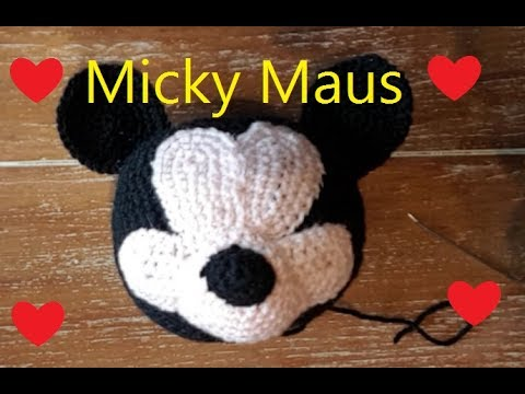 Micky Maus Kopf Ball Häkeln Anleitung Teil 1 Kopf Youtube