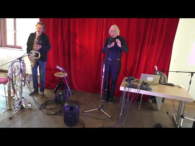 Udo Schindler und Jaap Blonk in Herrsching - Improvisation 1
