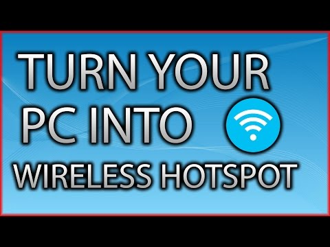 How to Turn your PC into a Wireless Hotspot without any software [2016]