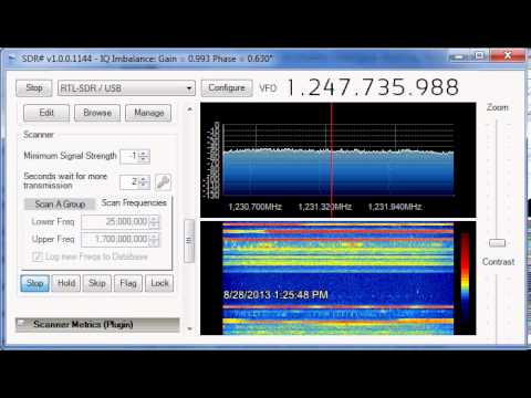 Full Scan with Frequency manager / scanner plug-in and SDR#