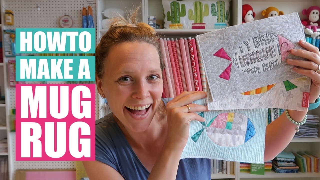 Quilted Mug Rug Pattern How To Make A