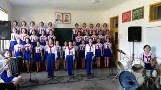 Untuk Indonesia - Anak-anak Korea Utara menyanyikan lagu Halo-Halo Bandung