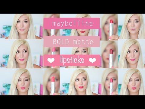 maybelline-color-sensational-bold-matte-lipsticks- -swatches