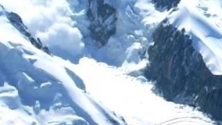 avalanche mont blanc depuis l'aiguille du midi