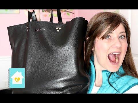 WHAT'S IN MY BAG   FOXY FIX LUSH URBAN CHIC TOTE   WORK BAG ORGANIZATION