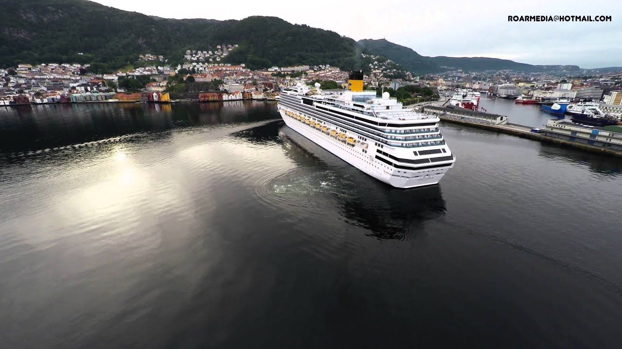 Costa pacifica arriving bergen norway watch in 4k for Costa favolosa wikipedia