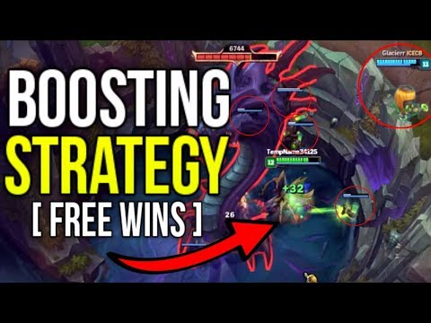 NEW LEAKED INSANE BOOSTING STRATEGY (NOT KAYLE/YI) [10 MIN INHIB, 20 MIN BARON] - League of Legends