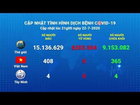 Cập nhật tình hình Covid-19 vào lúc 21 giờ 22-7-2020 | Thông tin dịch Covid-19 | TayNinhTV