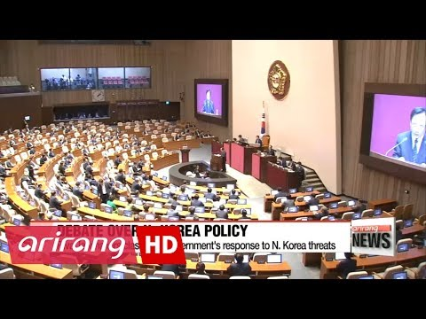 Rival lawmakers clash over government's response to N. Korea threats during parliament debate