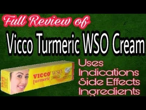Vicco Turmeric WSO Cream: review in hindi, how to use, benefits or fayde, results and side effects.