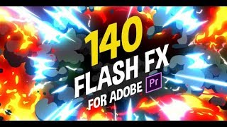 Скачать 140 Flash FX Premiere Pro Templates Animation Fx Cartoon