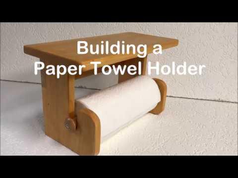 DYI Wood Paper Towel Holder