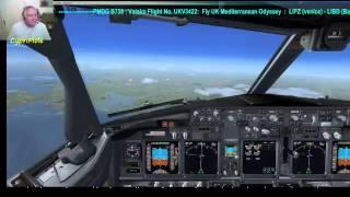 ............PMDG B738, Vatsim, Fly UK Mediterranean Odyssey Tour-Leg 1:  LIPZ (Venice) to LIBD  (Bar