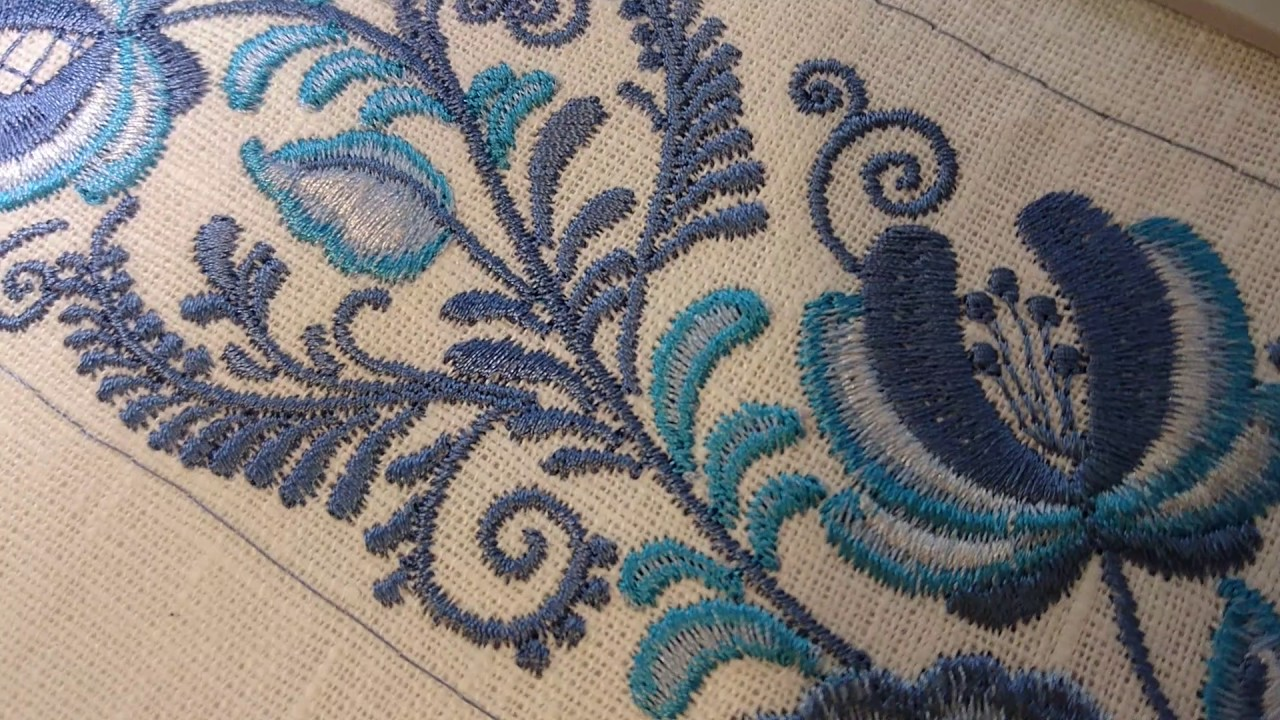 Machine Embroidery Design Blue Gzhel Border By Royal Present