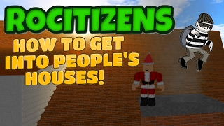Rocitizens: HOW TO BREAK INTO PEOPLE