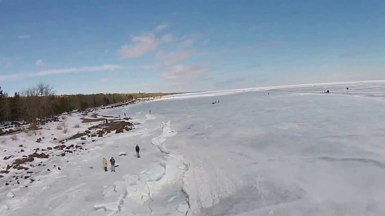 Lake superior ice fishing youtube for Fish in lake superior