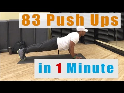 How To Do 83 Push Ups in 1 Minute   Army Military APFT Tips