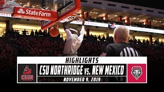 Cal State Northridge vs. New Mexico Basketball Highlights (2019-20) | Stadium