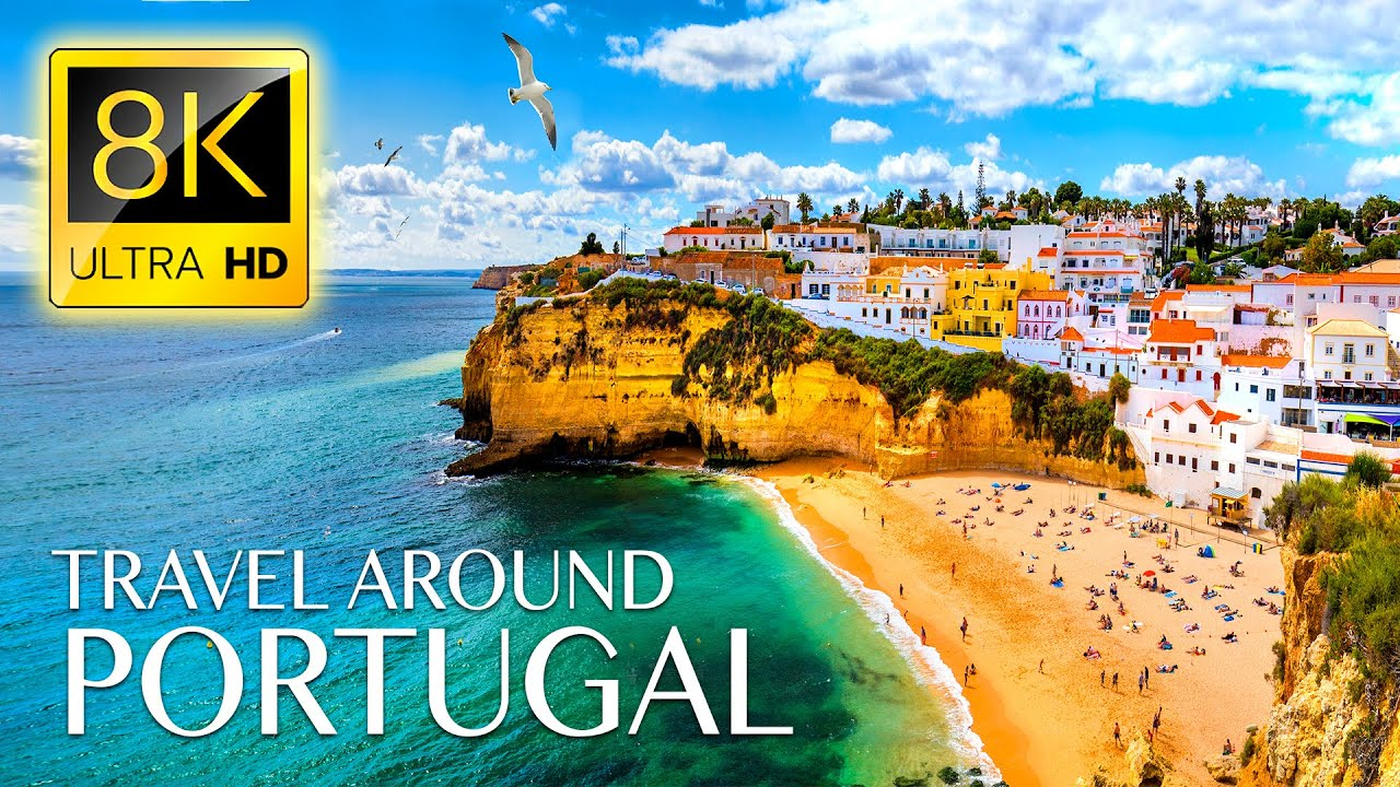 Beautiful Trip to PORTUGAL 8K ULTRA HD - Best Places with Relaxing Music 8K TV